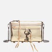 Rebecca Minkoff Women's Mirrored Metallic Mini M.A.C. Cross Body Bag - Pale Gold