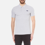 Lacoste L!ve Men's Large Croc Logo Polo Shirt - Silver Chine/Ship
