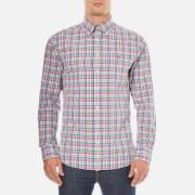 GANT Men's Madras Plaid Long Sleeve Shirt - Bright Pink