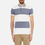 GANT Men's Barstripe Oxford Pique Rugger Polo Shirt - Persian Blue