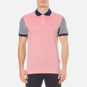 GANT Men's Colour Block Oxford Rugger Polo Shirt - Bright Magenta