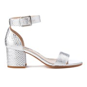 Dune Women's Jaygo Barely There Blocked Heeled Sandals - Silver Reptile