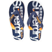 Superdry Men's Scuba Flip Flops - Dark Navy/Fluro Orange/Optic