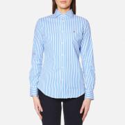 Polo Ralph Lauren Women's Kendal Stripe Shirt - Blue/White