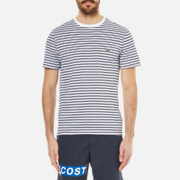 Lacoste Men's Striped T-Shirt - White/Navy Blue