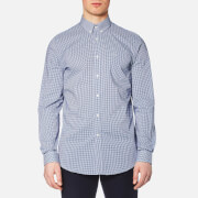 Lacoste Men's Gingham Long Sleeve Shirt - Inkwell/White