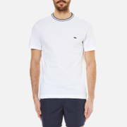Lacoste Men's Contrast Collar T-Shirt - White/Navy Blue