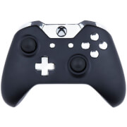 Manette Custom Xbox One - Édition Noir Mat et Chrome Argenté
