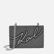 Karl Lagerfeld Women's Karl Signature Minaudiere Bag - Black