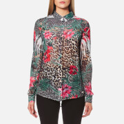 Guess Women's Long Sleeve Clouiu Shirt - Havannah Fusion