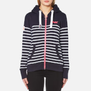 Superdry Women's Sun & Sea Zip Hoody - Navy/White Stripe