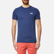 Superdry Men's Orange Label Vintage Embroidered T-Shirt - Baseball Blue Marl