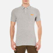 Superdry Men's Classic New Fit Pique Polo Shirt - Light Grey Grit Grindle