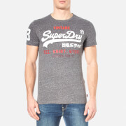 Superdry Men's Shirt Shop T-Shirt - Dark Grey Snowy