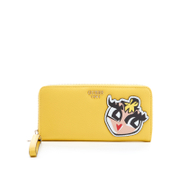 Guess Women's Pinup Pop Large Zip Around Purse - Lemon