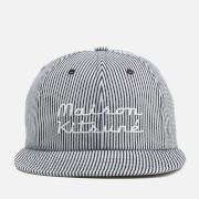 Maison Kitsuné Men's Baseball Cap Striped Hat - Navy Stripe