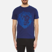 Versus Versace Men's Embossed Lion T-Shirt - Blue
