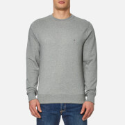 Tommy Hilfiger Men's Basic Crew Neck Long Sleeve Sweatshirt - Cloud Heather