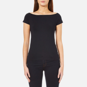 Helmut Lang Women's Open Boat Neck Top - Navy