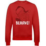 Behave Christmas Sweatshirt - Rot