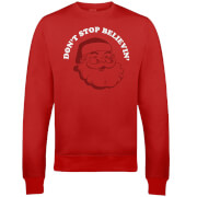 Don't Stop Believin' Christmas Sweatshirt - Red