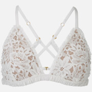 For Love & Lemons Women's Sage Lace Bra - Ivory