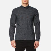 Pretty Green Men's Mayflower Long Sleeve Shirt - Navy