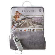 Dreamland Relaxwell 16334 Intelliheat Single Heated Throw - Grey