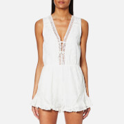 MINKPINK Women's Palace Playsuit - Off White