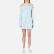 MINKPINK Women's Business Class Off Shoulder Dress - Light Blue