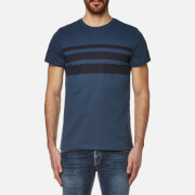 A.P.C. Men's Jimmy Stripe T-Shirt - Bleu Fonce