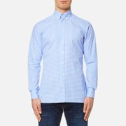 Hackett London Men's Gingham Mult Tri Logo Shirt - Sky