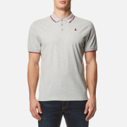 MUSTO Men's Miles Tipped Polo Shirt - Light Grey Marl