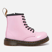 Dr. Martens Toddlers' Brooklee Patent Lamper Lace Boots - Baby Pink