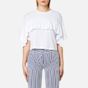 MSGM Women's Frill T-Shirt - White