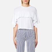 MSGM Women's Frill T-Shirt - White