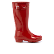 Hunter Kids' Original Gloss Wellies - Military Red