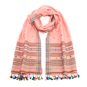 Paul Smith Women's Character Weave Tassel Scarf - Blush