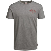 Jack & Jones Originals Howdy T-Shirt - Light Grey Marl