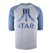 Atari Men's Logo Long Sleeve T-Shirt - Grey/Blue