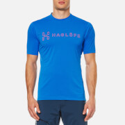Haglofs Men's Ridge II T-Shirt - Vibrant Blue Logo