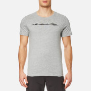 Craghoppers Men's Eastlake Linear Landscape Short Sleeve T-Shirt - Soft Grey Marl