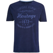 Brave Soul Men's Durable Print T-Shirt - Indigo