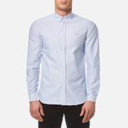 Maison Labiche Men's Paradis Long Sleeve Shirt - Blue Stripes