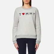 Tommy Hilfiger Women's Tommy Logo Heart Sweatshirt - Light Grey Heather