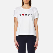 Tommy Hilfiger Women's Tommy Logo Heart T-Shirt - Classic White