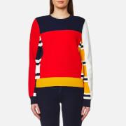 Tommy Hilfiger Women's Etra Patchwork Sweatshirt - Fiery Red