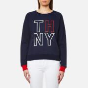 Tommy Hilfiger Women's Damaris Crew Neck Sweatshirt - Peacoat
