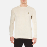 Lyle & Scott Men's Crew Neck Cotton Merino Knitted Jumper - Off White Marl
