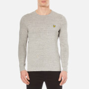 Lyle & Scott Men's Unfinished Rolled Neck Knitted Jumper - Mid Grey Marl